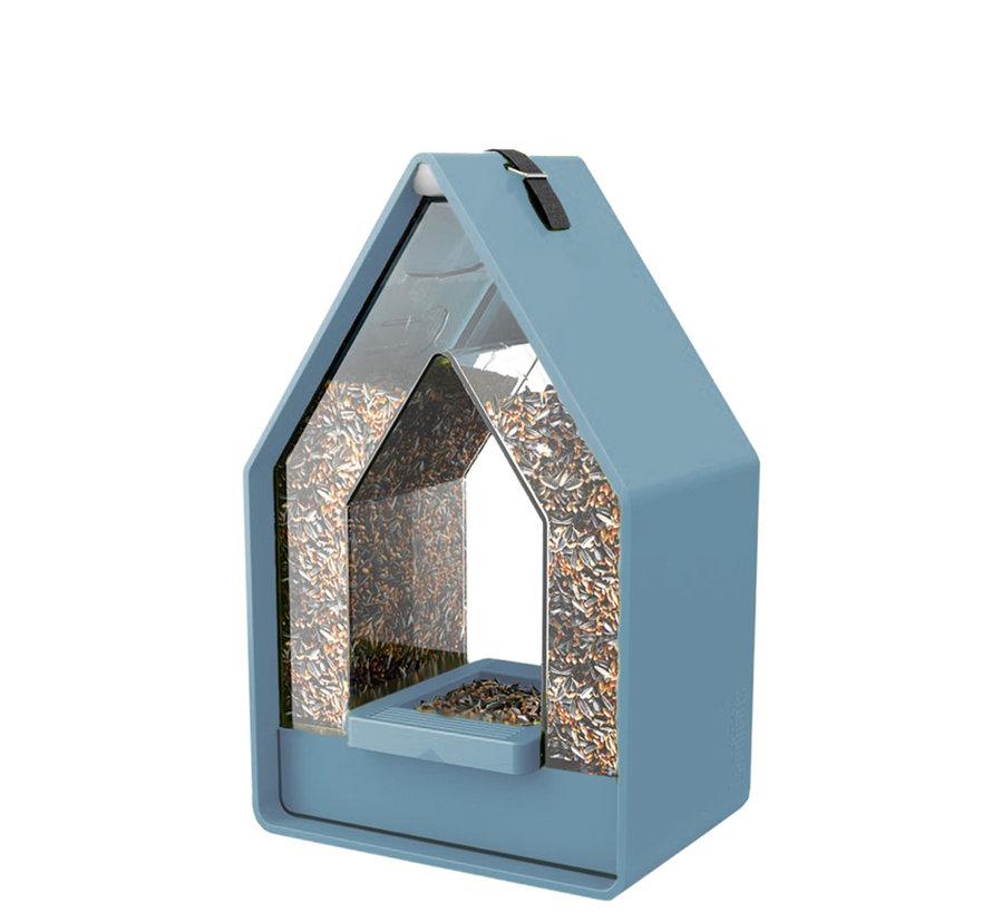 Landhaus Vogelvoeder dispenser grijsblauw