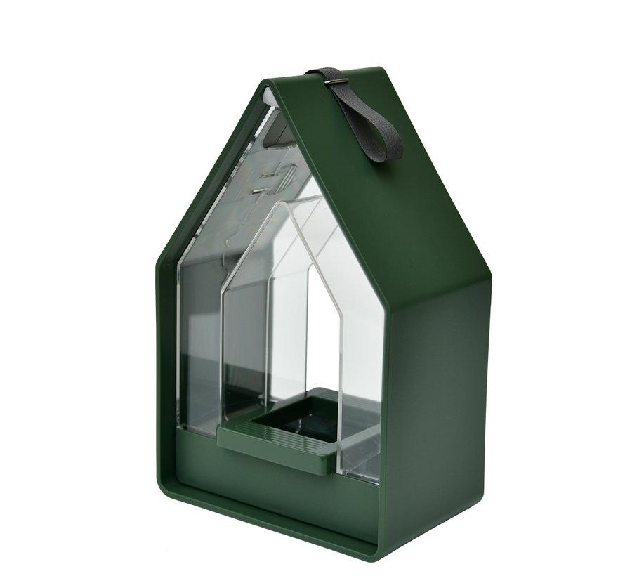 Landhaus Vogelvoeder dispenser mosgroen