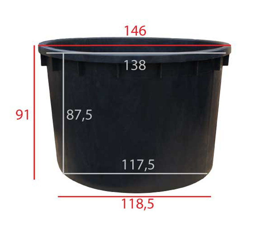 Boomkuip 1000 liter ø 140 x h.90 cm