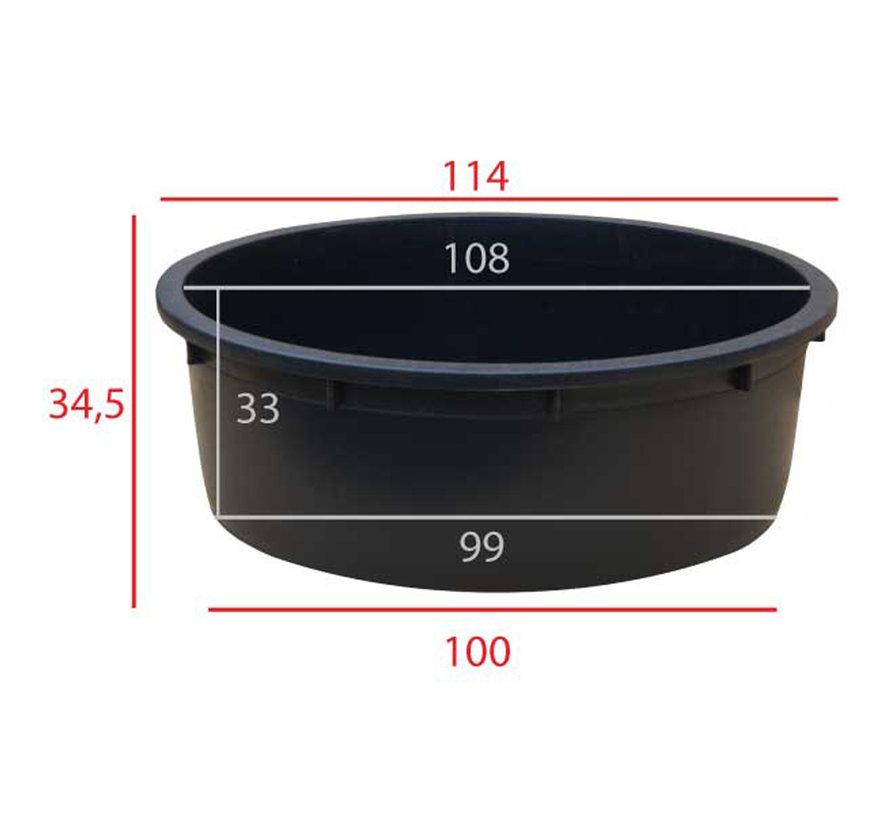 Kuip 275 liter ø 110 x h.35 cm