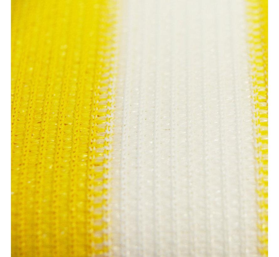 Balkondoek 0,9 x 5 mtr geel/wit