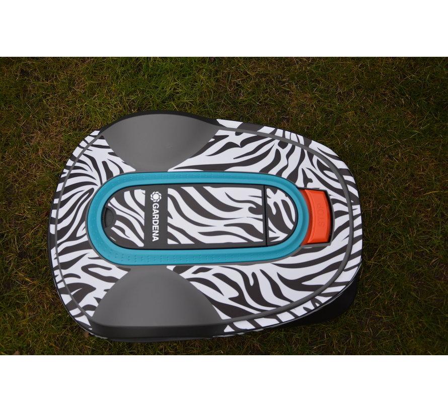 Twinckels outfit voor Gardena Robotmaaier Sileno - Zebra 2