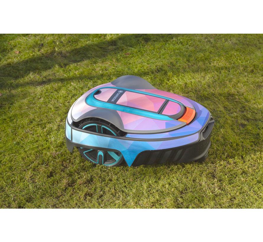 Twinckels outfit voor Gardena Robotmaaier Sileno - Geo Roze