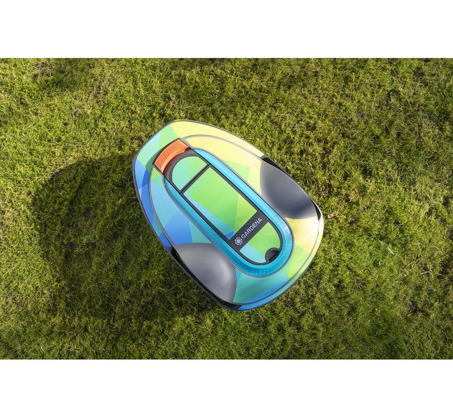 Twinckels outfit voor Gardena Robotmaaier Sileno - Geo Regenboog