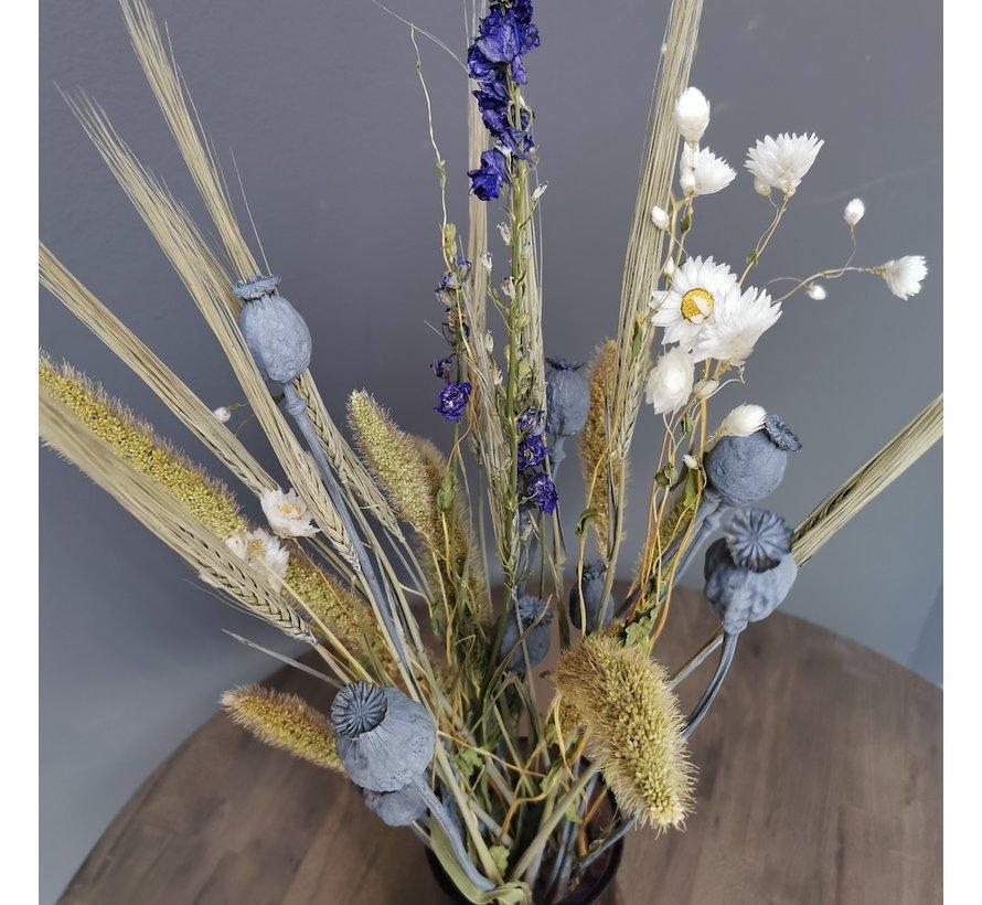 Droogbloemen Boeket Blauw zonder Vaas | Coraline