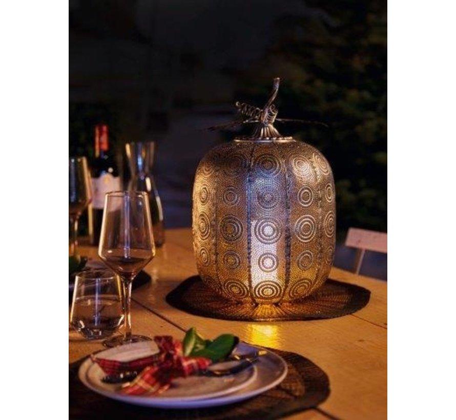 Pompoen lamp Tall Antique Silver