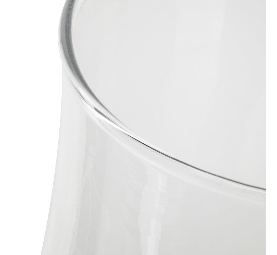 Vaas 'Femke' H21 D19 cm Transparant