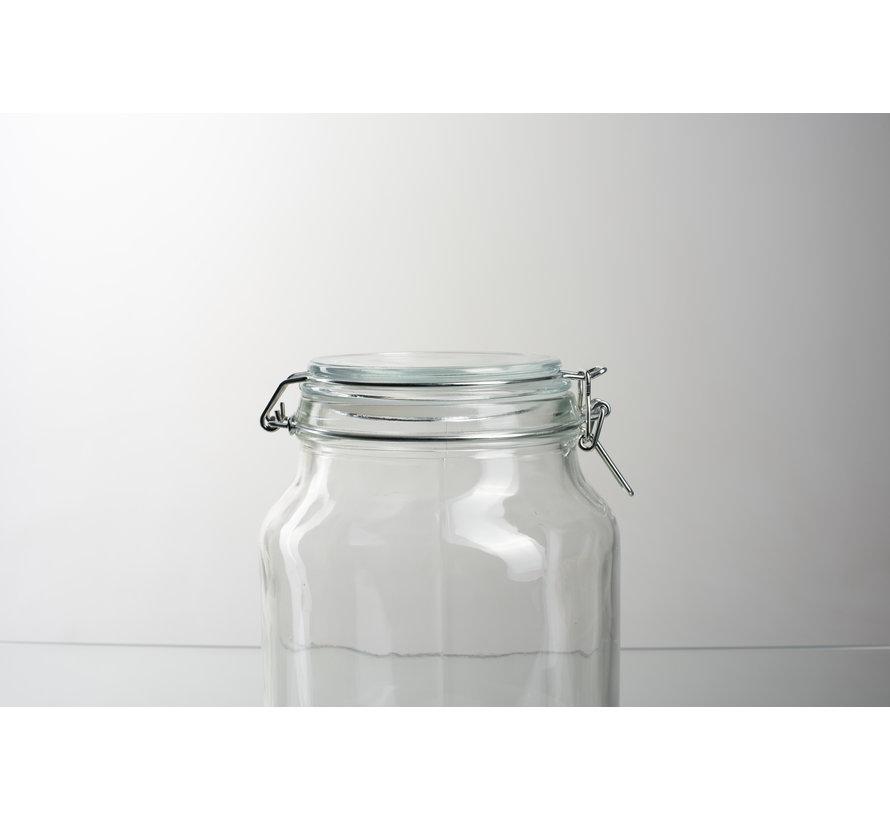 Glaspot met deksel 'Giovanny'