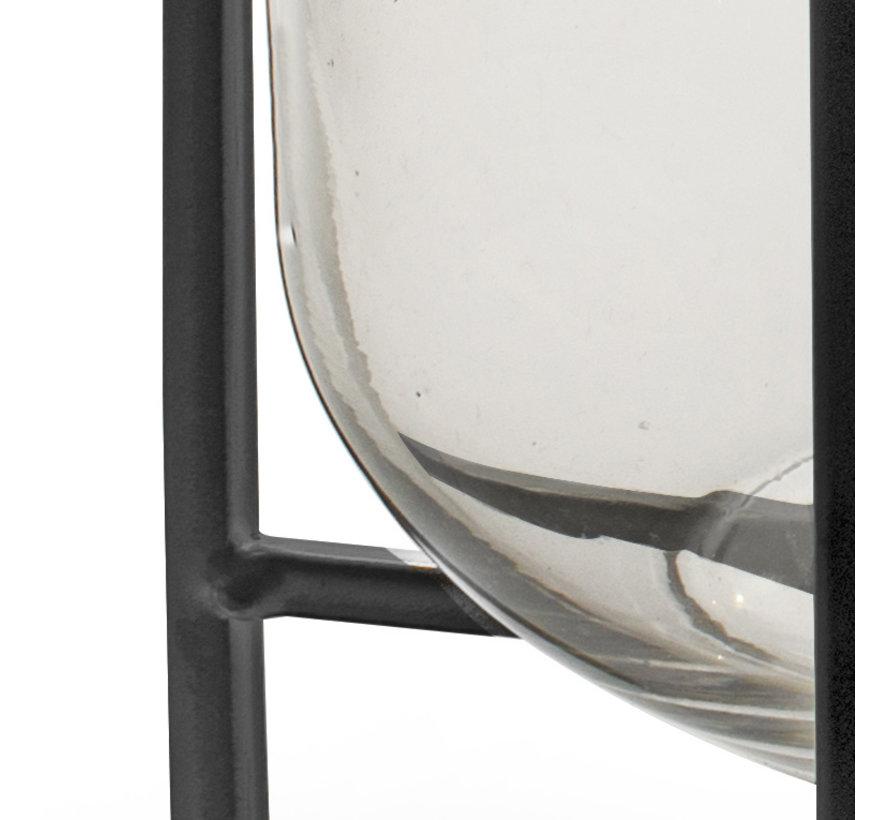 Industriële vaas 'Izzy' H26 D20 cm Transparant