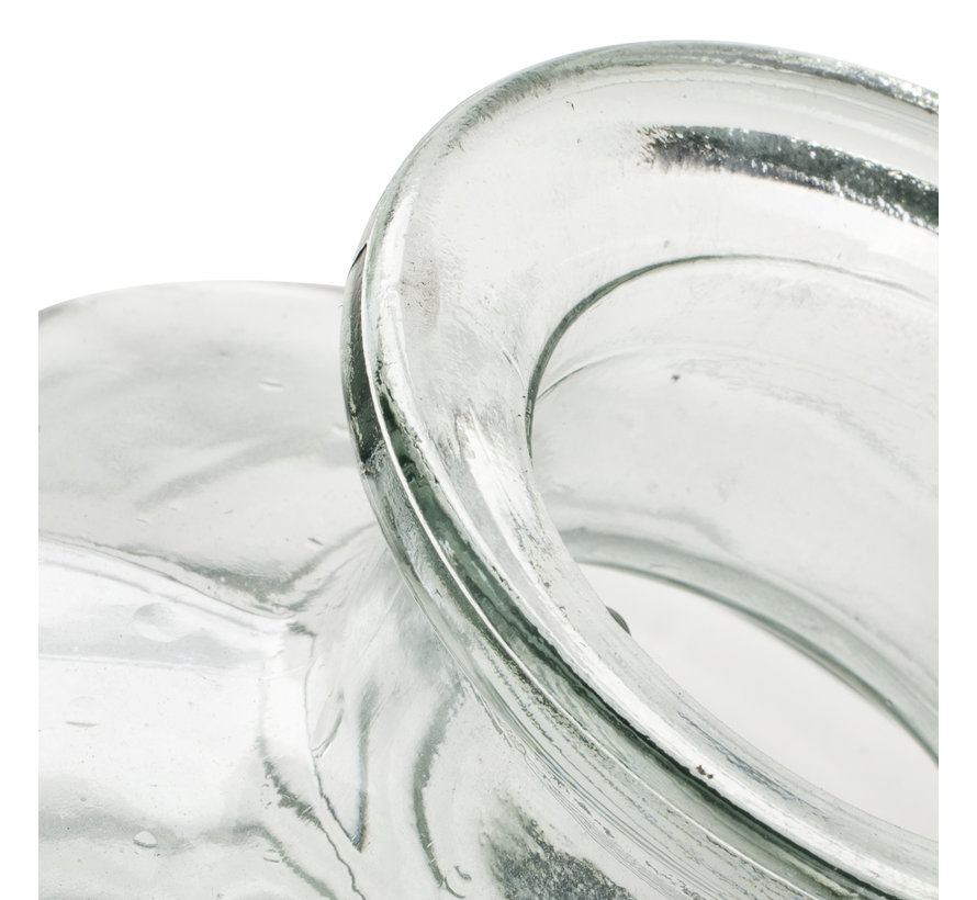 Flesvaas met ribbel 'Fokke' H31 D14,5 cm Transparant