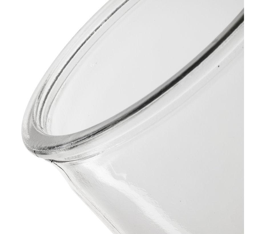 Glazen vaas 'Chloe' H25 D10 cm Transparant