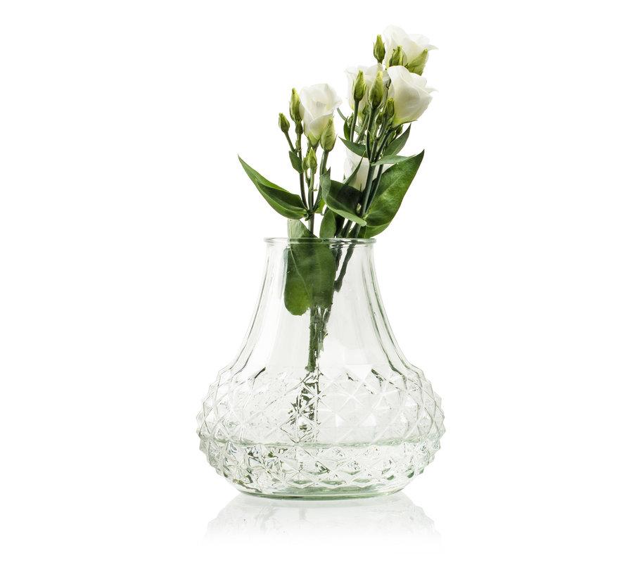 Glazen vaas 'Vivian' H18 D17,5 cm Transparant