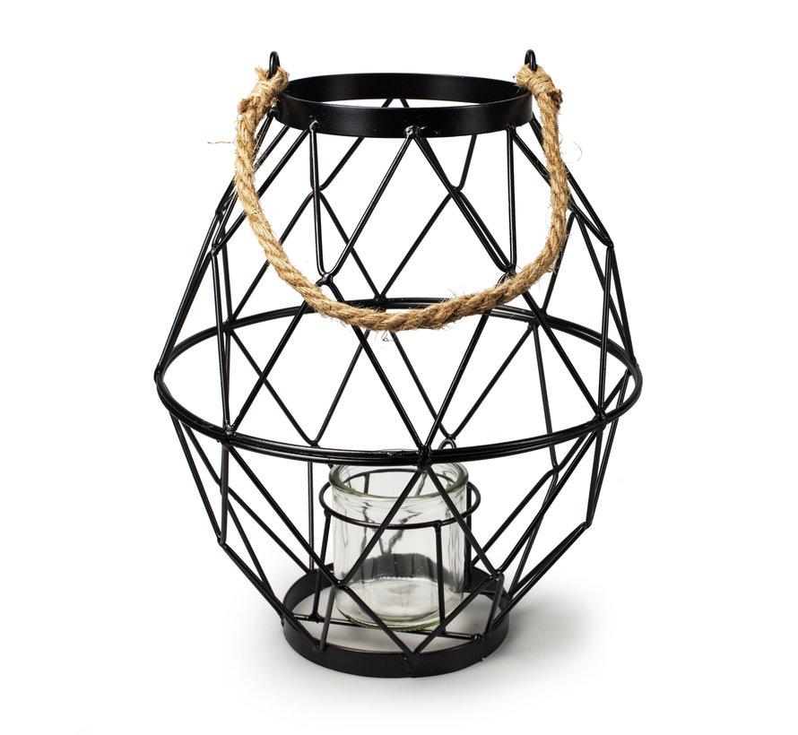 Metalen lantaarn 'Meyra'