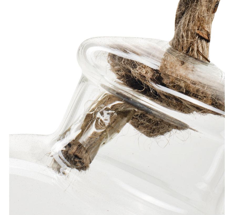 Glazen vaas 'Vayen' H26 D15 cm Transparant