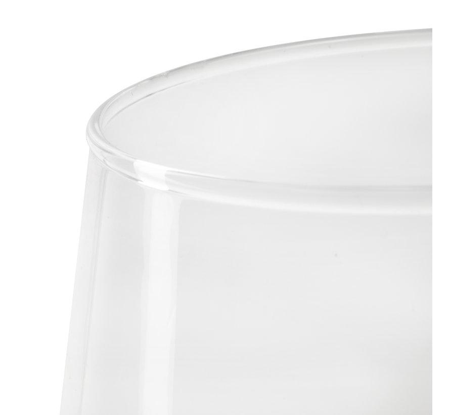 Glazen vaas 'Vani' H19 D12/16 cm Transparant