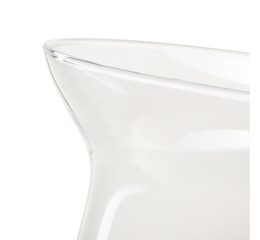 Glazen vaas 'Vicky' H25 D19 cm Transparant