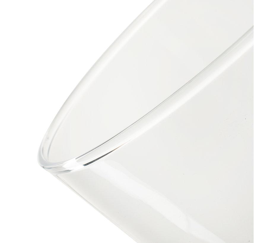 Glazen vaas 'Geva' H24 D18,5 cm Transparant