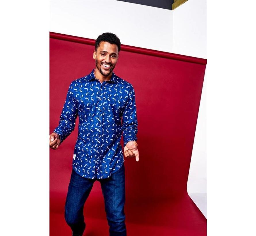 overhemd Koi Carp Blauw (83.051)