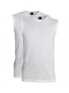 Alan Red Mouwloze T-shirts Montana 2Pack Wit (6684)