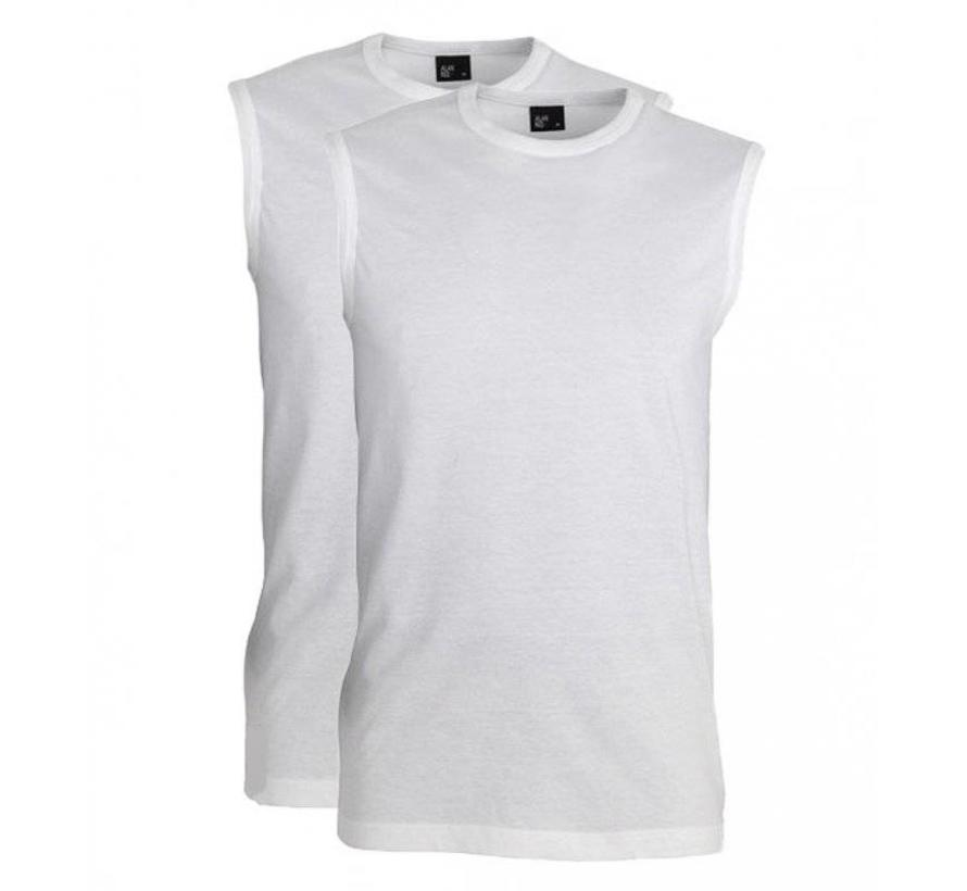 mouwloze T-shirts Montana 2pack wit (6684N)
