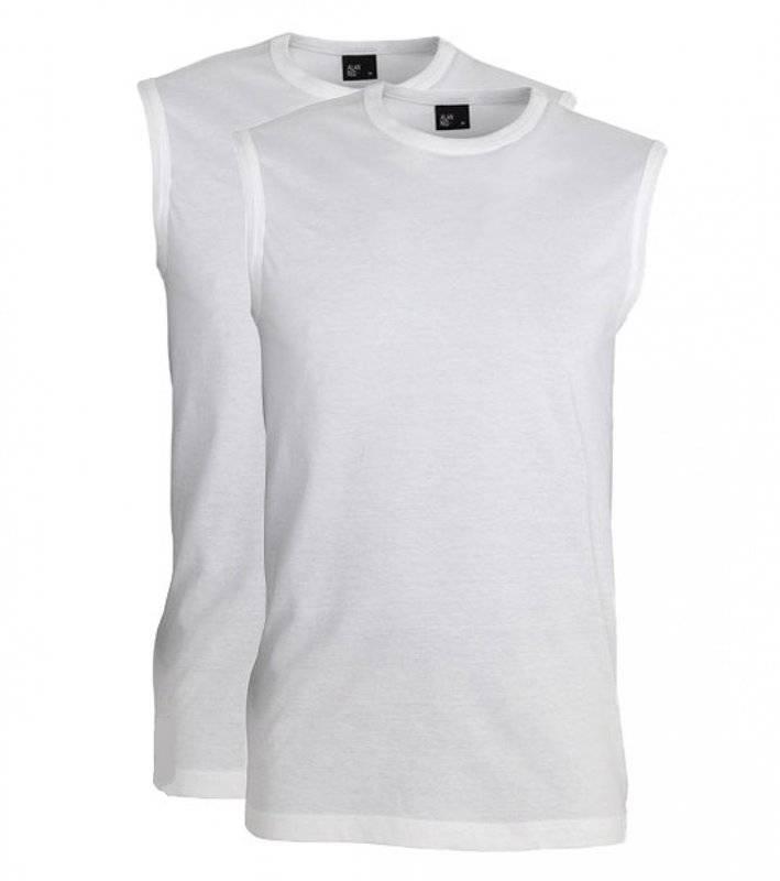 Alan Red Mouwloze T-shirts Montana 2pack Wit L
