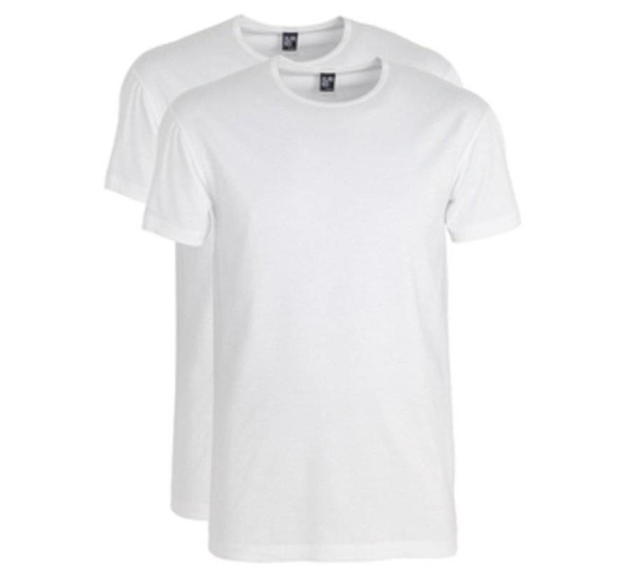 t-shirt wit Ottowa 2 pack stretch ronde hals 5 + 1 wit GRATIS (6680N)