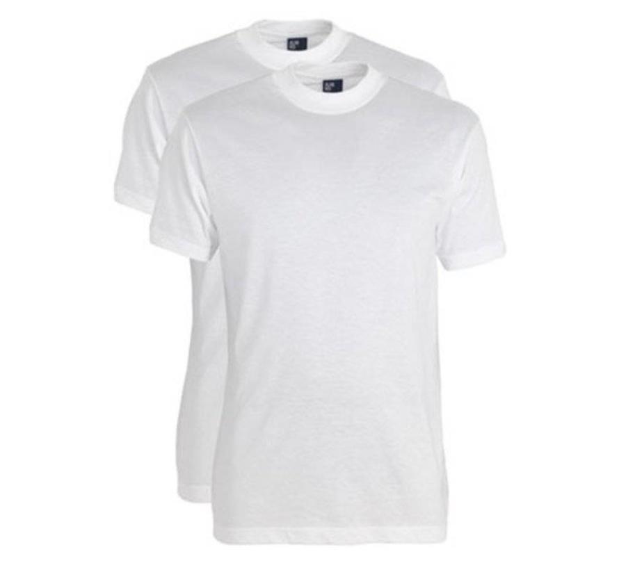 t-shirt wit Virginia 2-pack ronde hals 5 + 1 GRATIS wit (3129N)