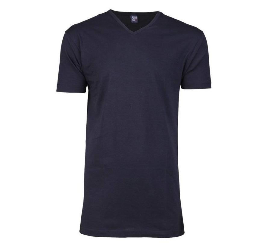V-hals T-shirt Vermont 1-pack Navy (6671SP)