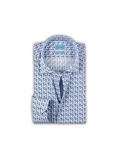 British Indigo overhemd print blauw (7.71.048.031 - 60)