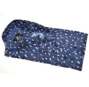 Culture overhemd modern fit print Blauw  (513728 - 38)