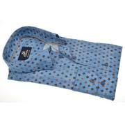 Culture overhemd modern fit print Blauw  (513781 - 34)