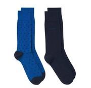 Gant 2pack sokken stippen blauw (9960001 - 436)