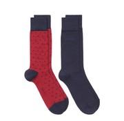 Gant 2pack sokken stippen rood (9960001 - 621)