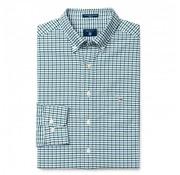 Gant overhemd regular fit ruit Groen (3056500 - 318)