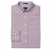 Gant overhemd regular fit ruit Rood (3056500 - 621)