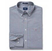 Gant overhemd regular fit ruit  Grijs (3056600 - 230)