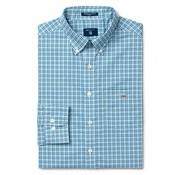 Gant overhemd regular fit ruit Blauw  (3056600 - 436)