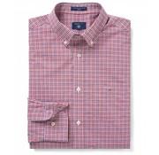 Gant overhemd regular fit ruit Rood (3056600 - 621)