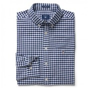 Gant overhemd ruit regular fit navy (3046200 - 423N)