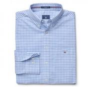 Gant overhemd ruit regular fit Blauw  (3046200 - 468N)