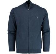 Gant vest regular fit Blauw melange (83104 - 902)
