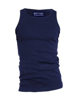 Garage Singlet 1-pack Semi Body Fit Ronde Hals Navy (0401N)