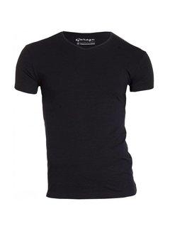 Garage T-shirt 1-pack Body Fit V-hals Zwart (0202N)