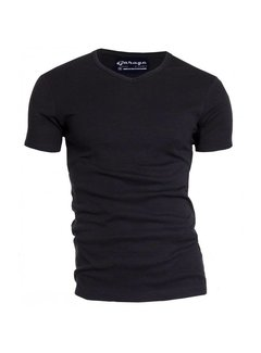 Garage T-shirt 1-pack Semi Body Fit V-hals Zwart (0302N)