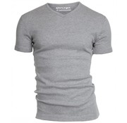 Garage T-shirt 1-pack Semi Body Fit V-hals Grijs Mel. (0302N)