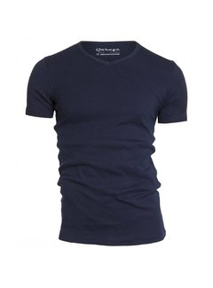 Garage T-shirt 1-pack Semi Body Fit V-hals Navy (0302N)