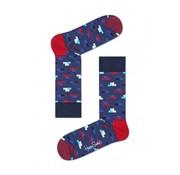 Happy Socks 1pack sokken Brick Blauw  (BRI01-6000)