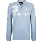 HV Society lange mouw polo Favouritas air mel. blauw (0403390008 - 5004)