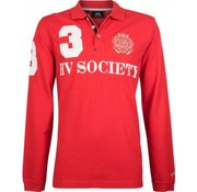 HV Society lange mouw polo Favouritas bright Rood (0403390008 - 3004)