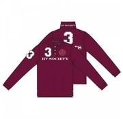 HV Society lange mouw polo Favouritas rood (0403390008 - 3050)